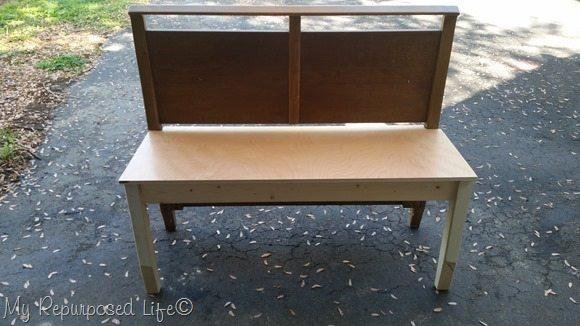 dry fit mid century modern headboard bench