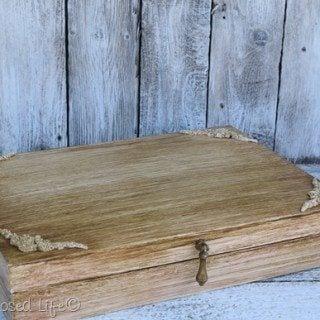 Wooden Silverware Box Makeover