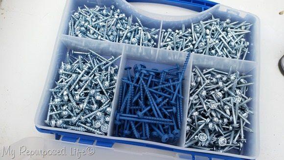 outdoor blue pocket screws