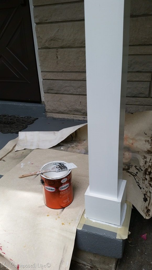 Porch Posts Need Trim My Repurposed Life