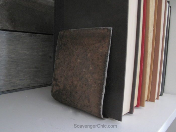 Upcycled, Recycled Weights Book Ends