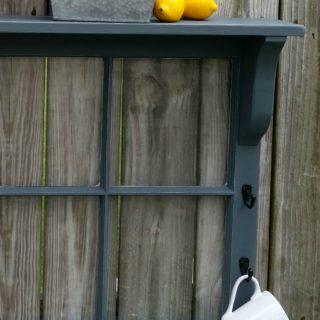 Gray Window Shelf