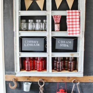 How to turn a metal pallet into an industrial style shelf - KnickofTime.net