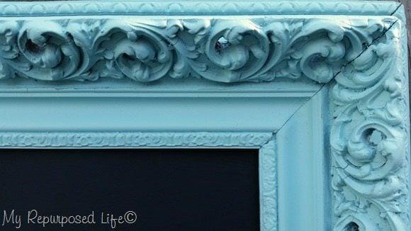 ornate aqua picture frame chalkboard 2
