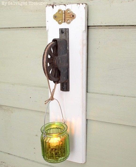 tea light holder MySalvagedTreasures