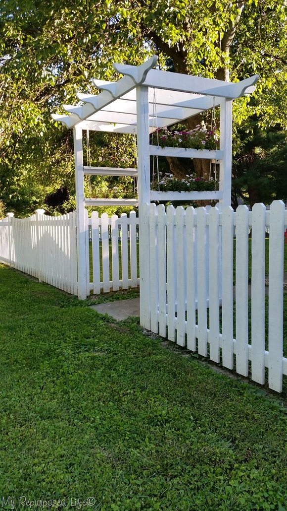 White Picket Fence Is Done My Repurposed Life