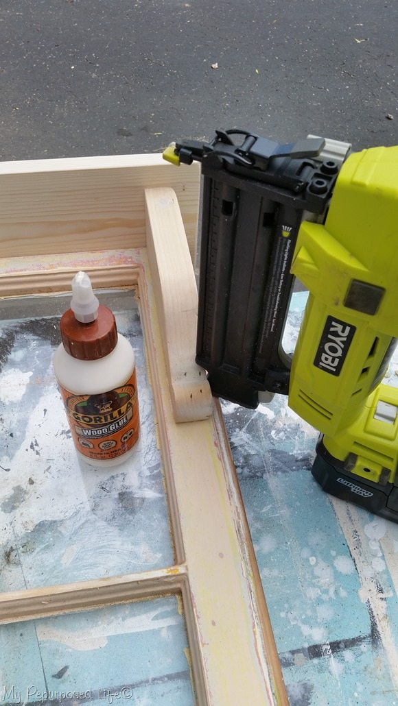 gorilla wood glue and ryobi nail gun