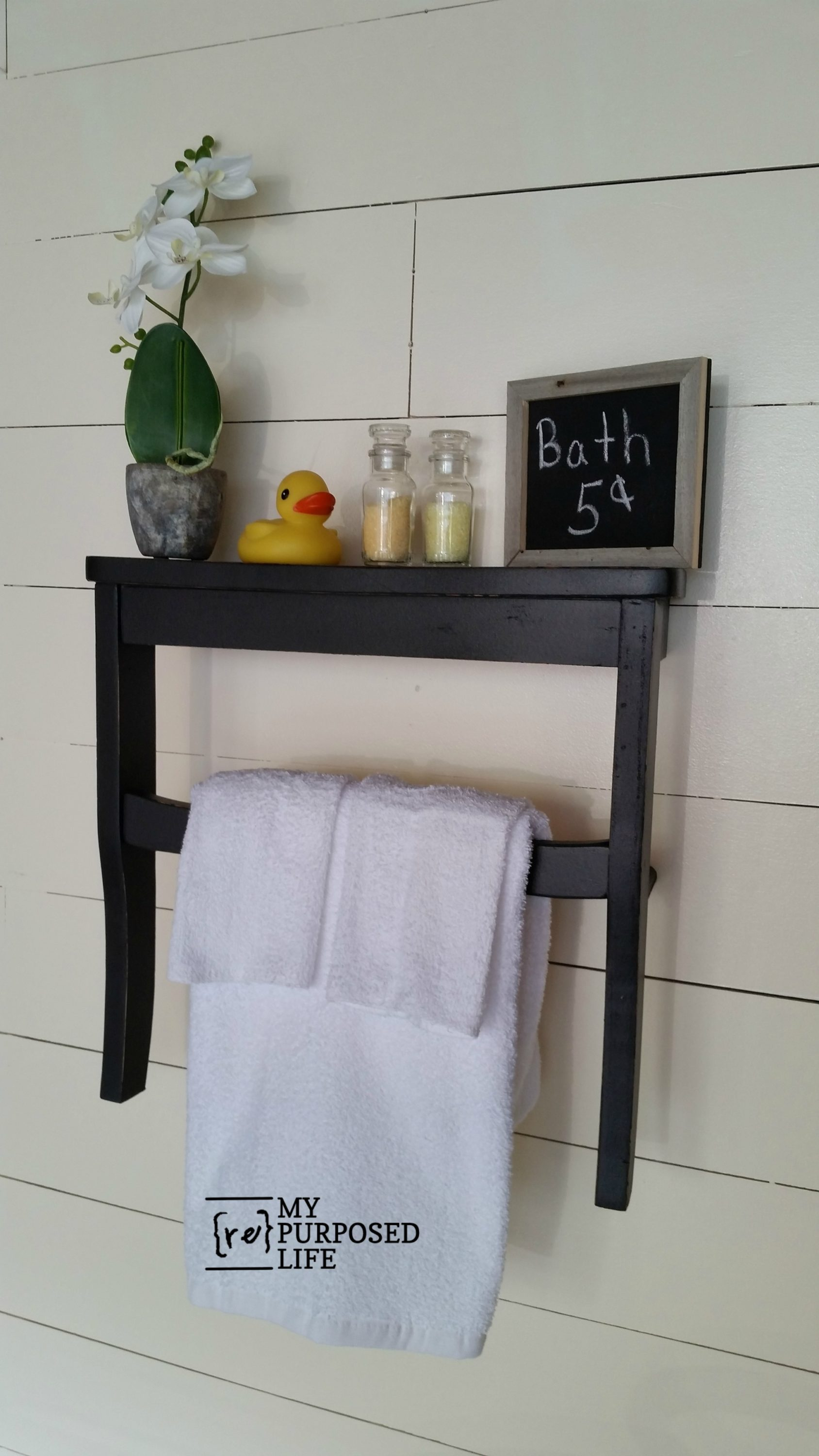Chair Seat Wall Shelf - My Repurposed Life®