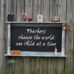 Chalkboard Shelf using a Cabinet Door