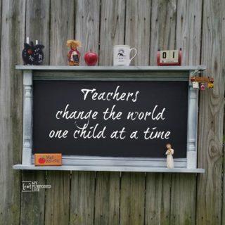 Large Chalkboard Shelf