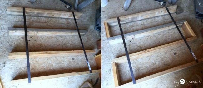 measuring shelf to metal bands