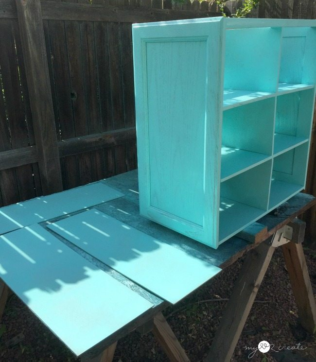 painting cupboard door shelf