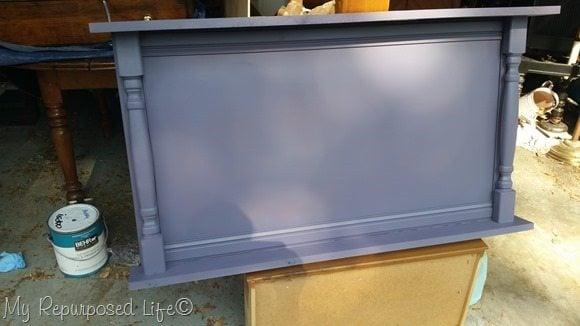 primer coat large spindle cabinet door chalkboard