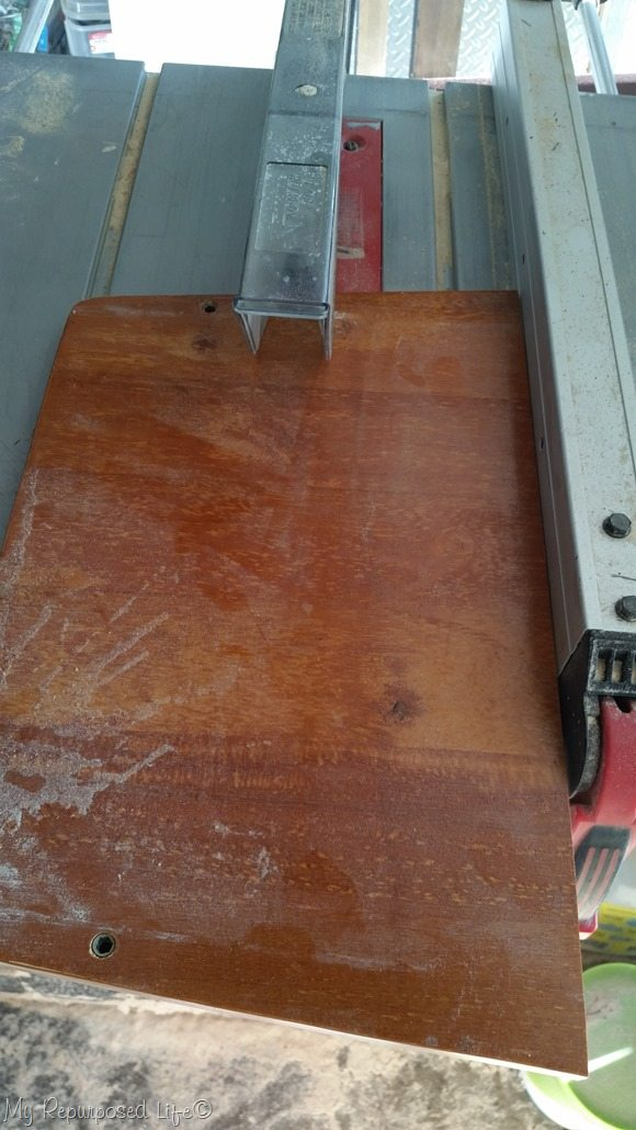 trim chair seat on table saw