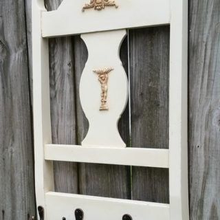 Coat Rack Repurposed Chair Back