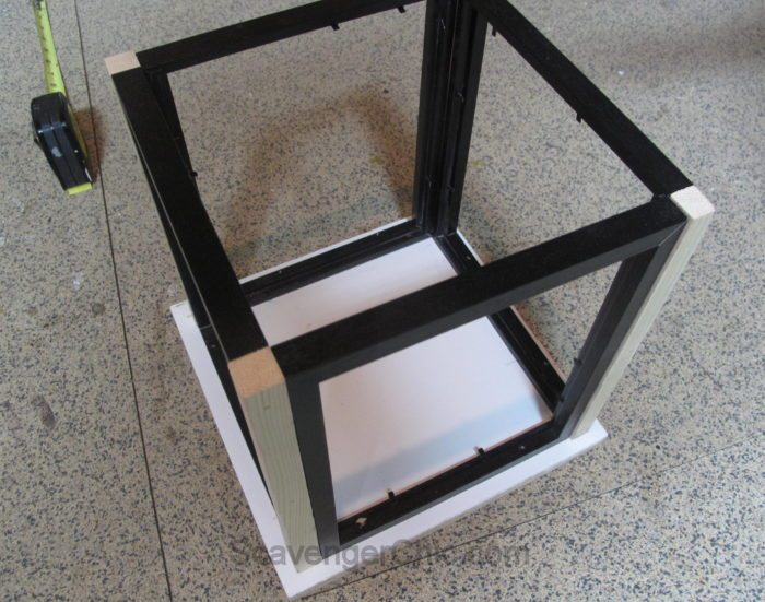 DIY Lantern from scrap wood and frames-004