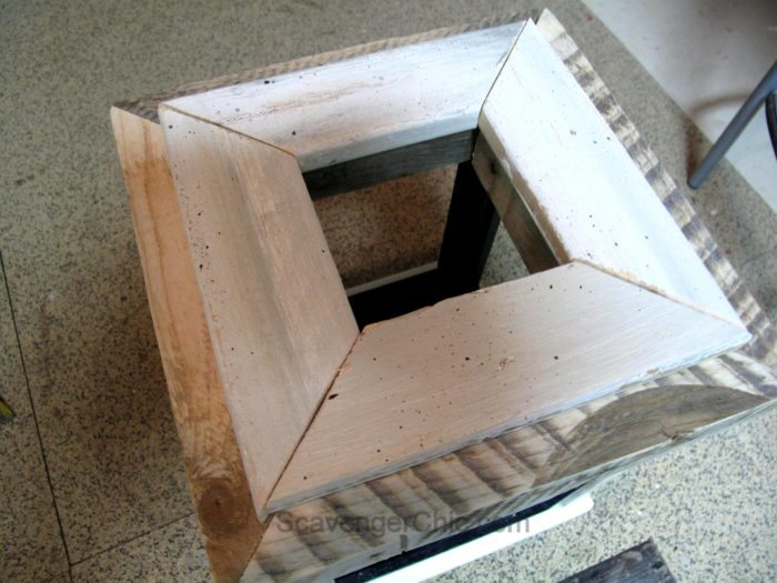 DIY Lantern from scrap wood and frames-009