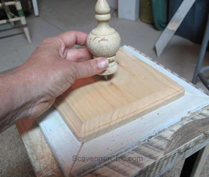 DIY Lantern from scrap wood and frames-010