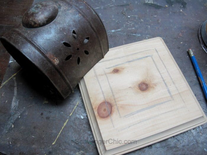 DIY Lantern from scrap wood and frames-011
