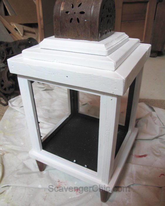 DIY Lantern from scrap wood and frames-013
