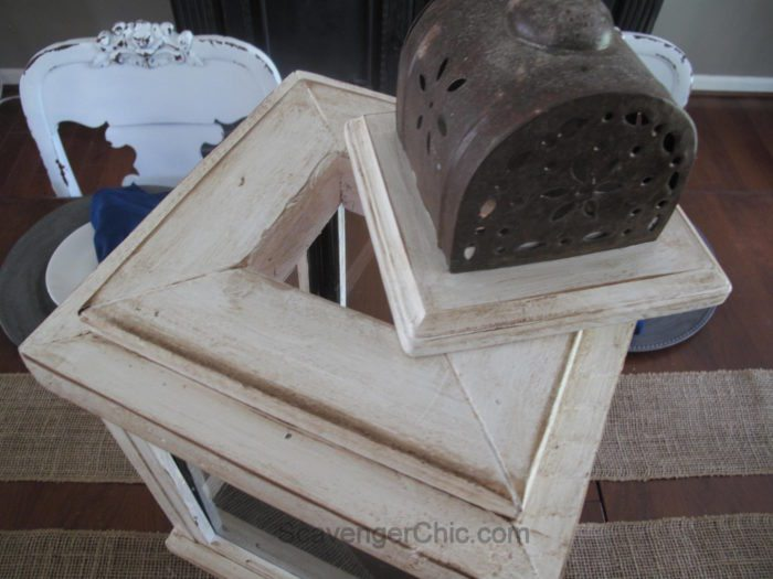DIY Lantern from scrap wood and frames-014