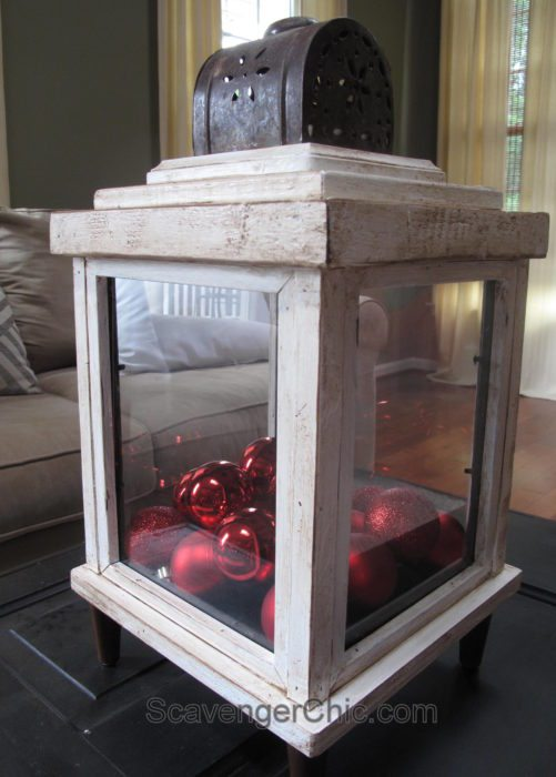 Use old picture frames to make lanterns Scavenger Chic for MyRepurposedLife.com