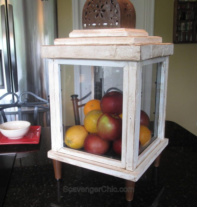 DIY Lantern from scrap wood and frames Scavenger Chic for MyRepurposedLife.com
