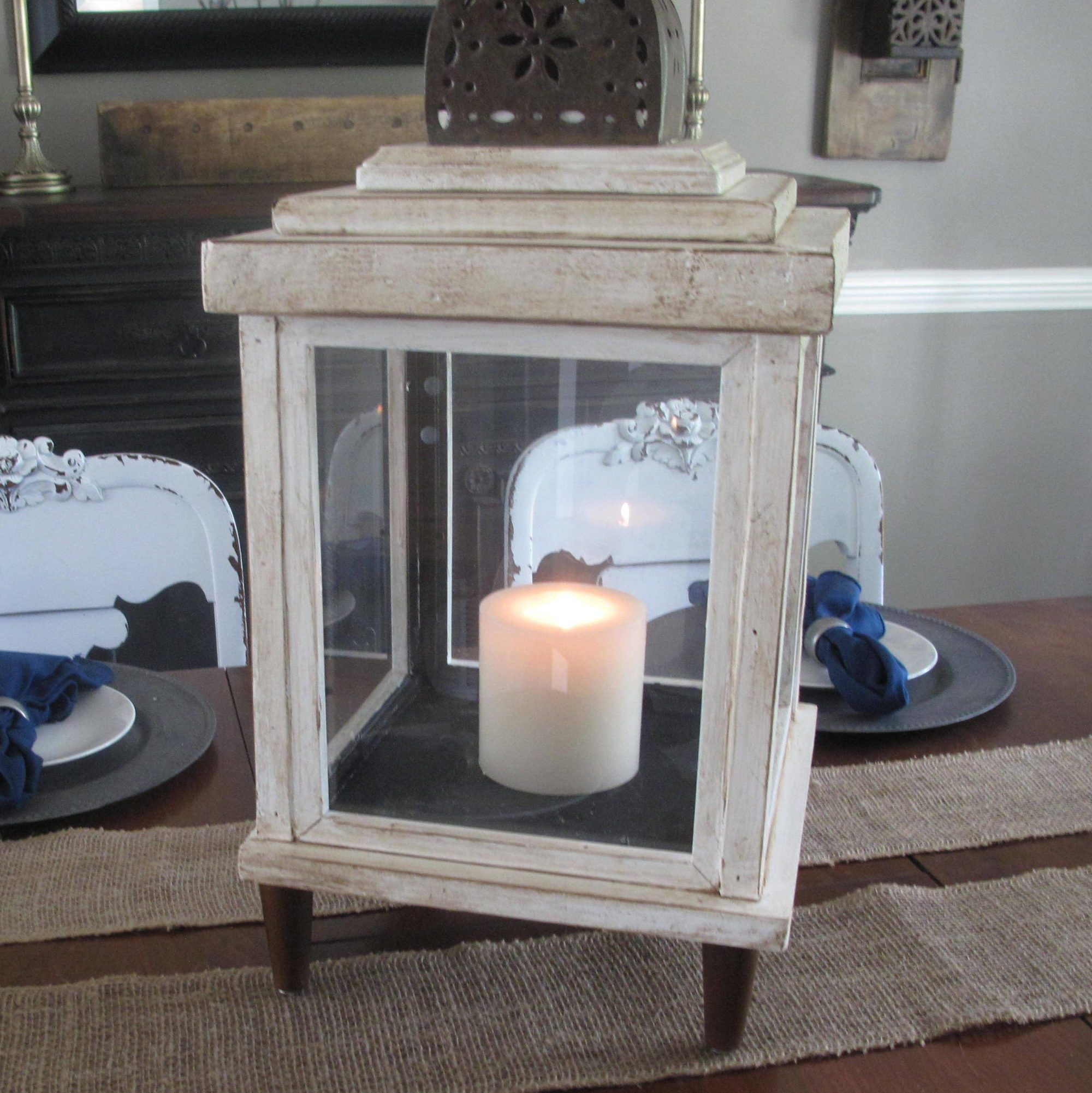 Turn old frames into a lantern my repurposed life for How to make vintage frames