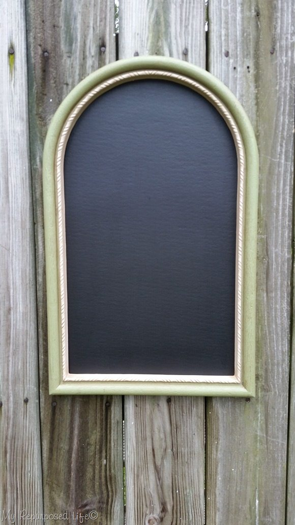 chalkboard made from home interior artwork