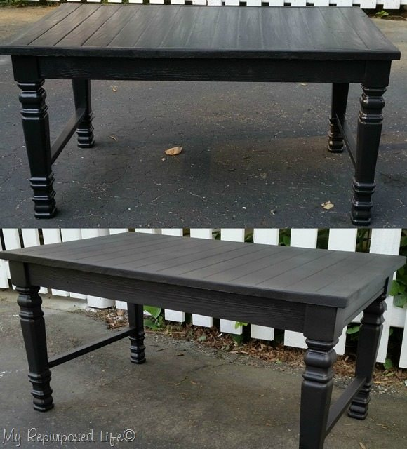 glossy and satin finish coffee table bench