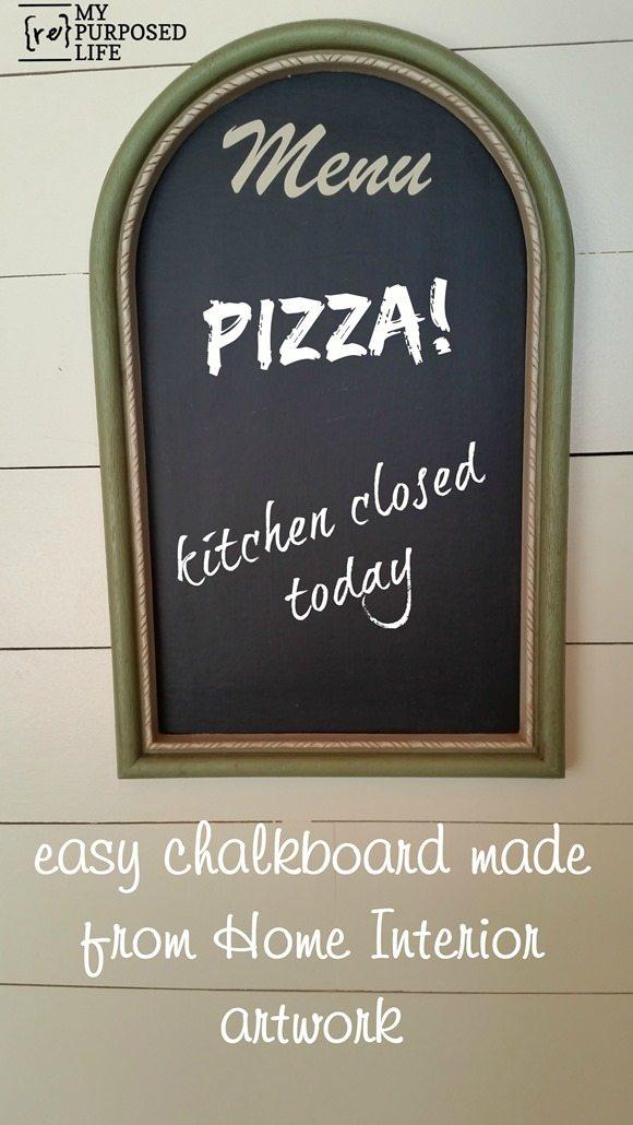 home interior artwork into an easy chalkboard MyRepurposedLife.com
