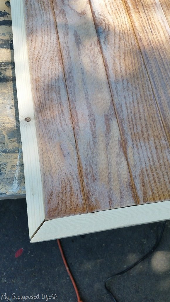 table top wood flooring framed