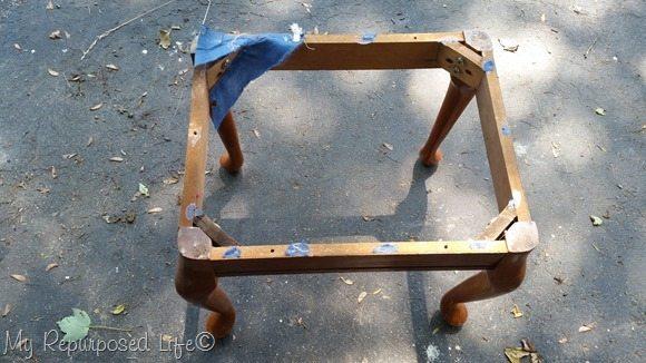 thrift store footstool