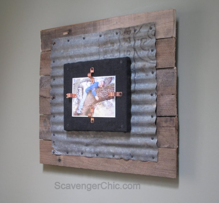 Corrugated Tin And Pallet Wood Frame My Repurposed Life 174