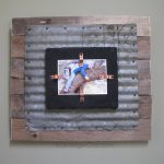 Corrugated Tin and Pallet Wood Frame