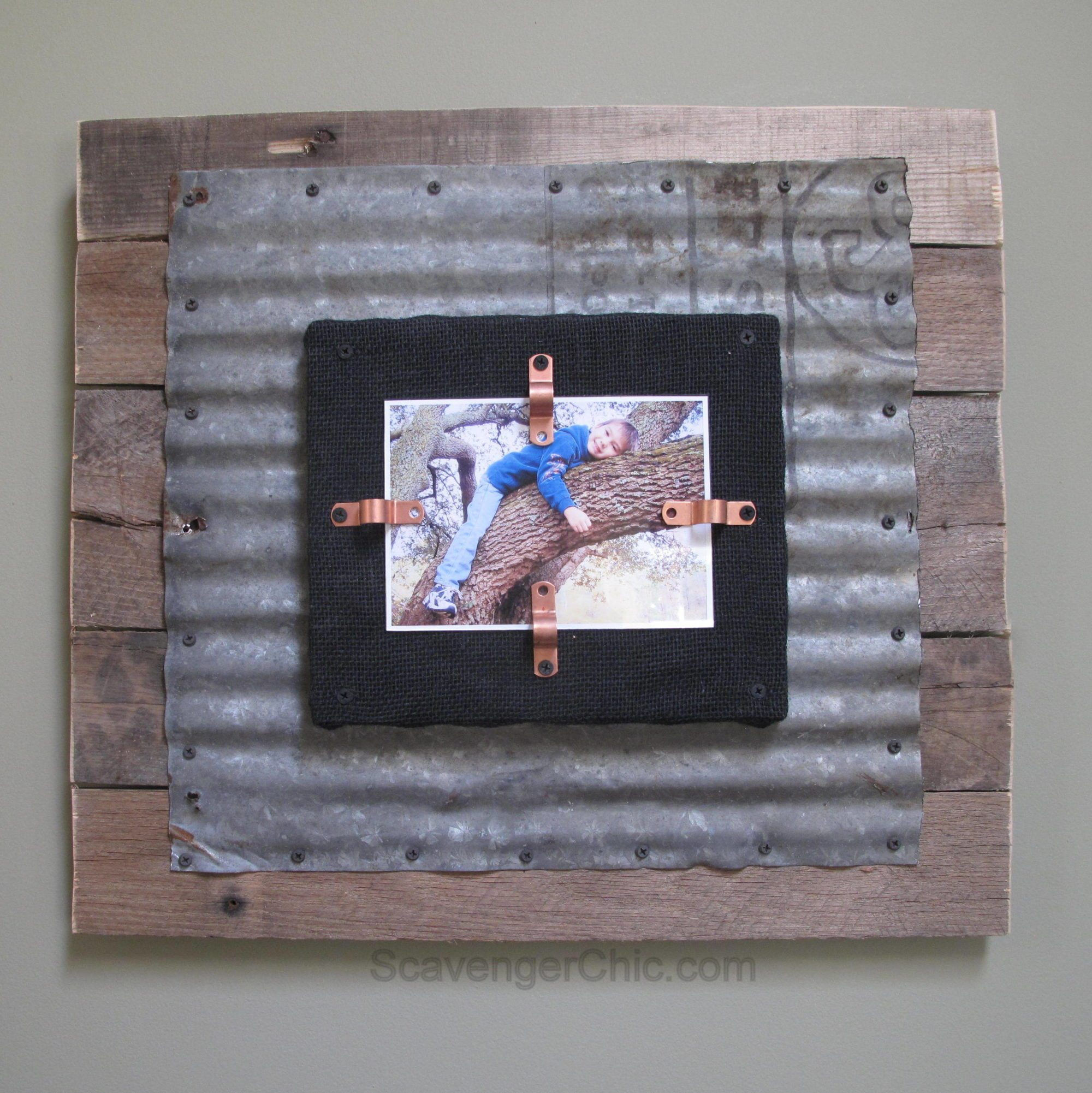 Corrugated Tin And Pallet Wood Frame My Repurposed Life