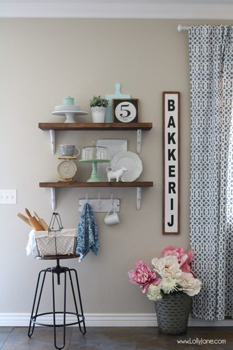Talk Of The Town 34 Farmhouse Shelves Ikea Hack More