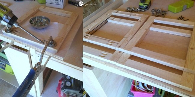 building shelf divider frames with pocket holes
