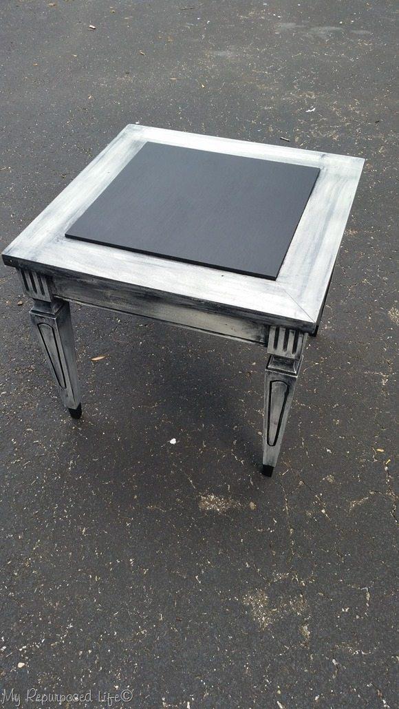 mid century modern side table makeover by MyRepurposedLife.com