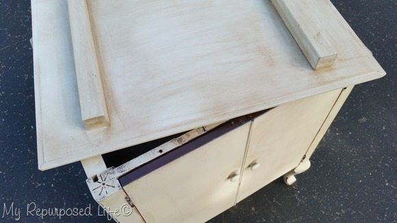 sewing cabinet removable top