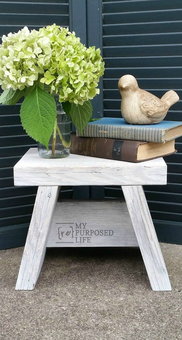 Small Step Stool Easy One Board Project My Repurposed