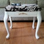 small thrift store footstool makeover