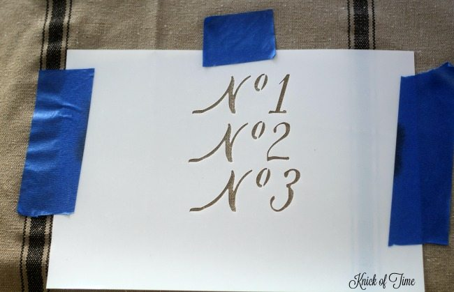 typography number stencil