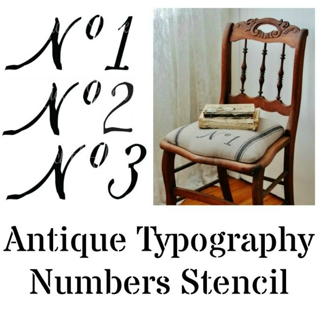 typography numbers stencil - Knick of Time
