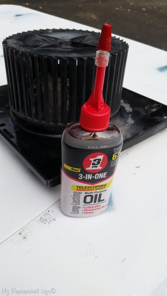 3-IN-ONE oil quiets noisy fan motor