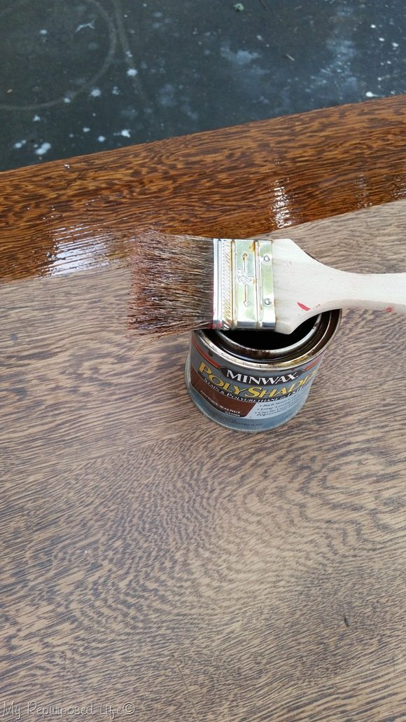 apply polyshades antique walnut