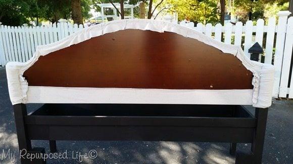 back of upholstered headboard bench