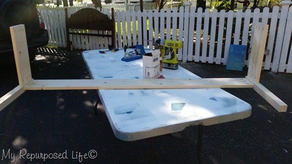 full sized headboard bench frame