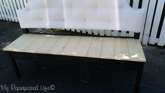 headboard seat planks notched