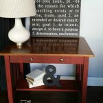 Library table makeover